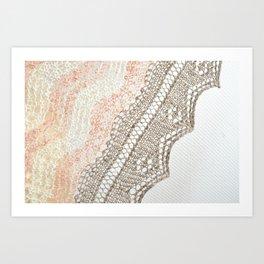 Three-color Shetland knitting Art Print