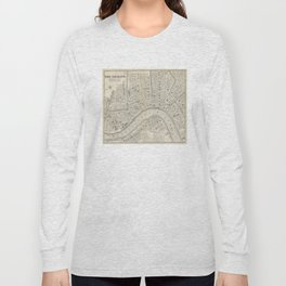 Vintage Map of New Orleans LA (1866) Long Sleeve T-shirt