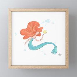 Friendly Mermaid Framed Mini Art Print
