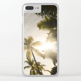 Palm Trees. Clear iPhone Case