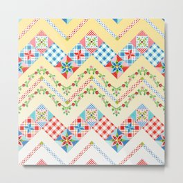 Country Days Zig Zag (printed) Metal Print