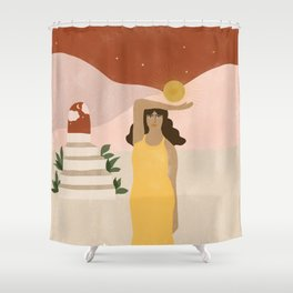 Stairway to Unknown Shower Curtain