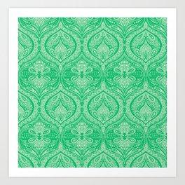 Simple Ogee Green Art Print