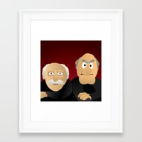 blair waldorf Framed Art Prints featuring Statler & Waldorf - Muppets Collection by Bryan Vogel