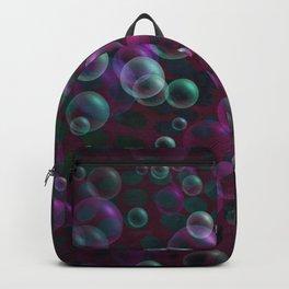 Purple Blue Bubbles Backpack
