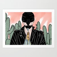 cycle Art Prints featuring Cycle by Vanessa Neves