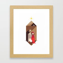 Away in a Manger Framed Art Print