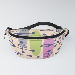 Mid Century Modern Radioactive Surfer 338 Fanny Pack
