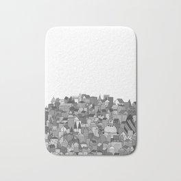 London (black and white version) Bath Mat