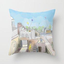 Punjabi Village 3 Throw Pillow