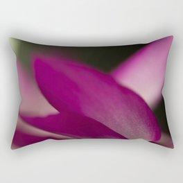 Up close with a Christmas Cactus Rectangular Pillow