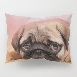 Pug puppy  Digital Art Pillow Sham