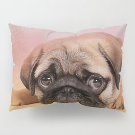 Pug puppy  Digital Art Pillow Sham