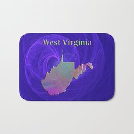 West Virginia Map Bath Mat