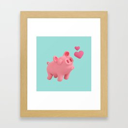 Rosa the Pig blow kisses Framed Art Print