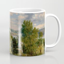 George Loring Brown - New England Landscape with Cemetery Coffee Mug