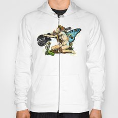 Guitar Girl With Butterfly Wings Hoody