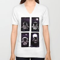 howl V-neck T-shirts featuring Howl by Zombie Rust
