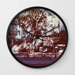 fence tree Wall Clock