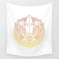hawaii Wall Tapestries featuring Hawaii by Aniskova Yulia