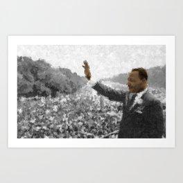 Martin Luther King Junior Wall Art Portrait, Speech, Home Decor, Dorm Decor, Freedom, Art Print