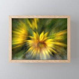 Concept flora : Foggy sunflower Framed Mini Art Print
