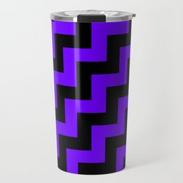 Black and Indigo Violet Steps RTL Travel Mug