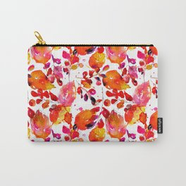 Vintage watercolor autumn leaves Carry-All Pouch