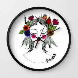 Blooming in peace Wall Clock