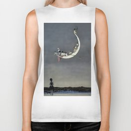 """ Moon's First Voyage"" Fairy Art by W Heath Robinson Biker Tank"