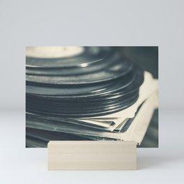 Vintage Vinyl Records Mini Art Print