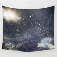 starry night Wall Tapestries featuring Starry Night  by Jane Lacey Smith