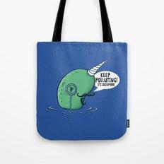 Evil Narwhal Favors Global Warming Tote Bag