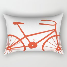 Red Bike by Friztin Rectangular Pillow