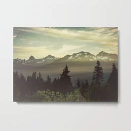 Morning in the Mountains Metal Print