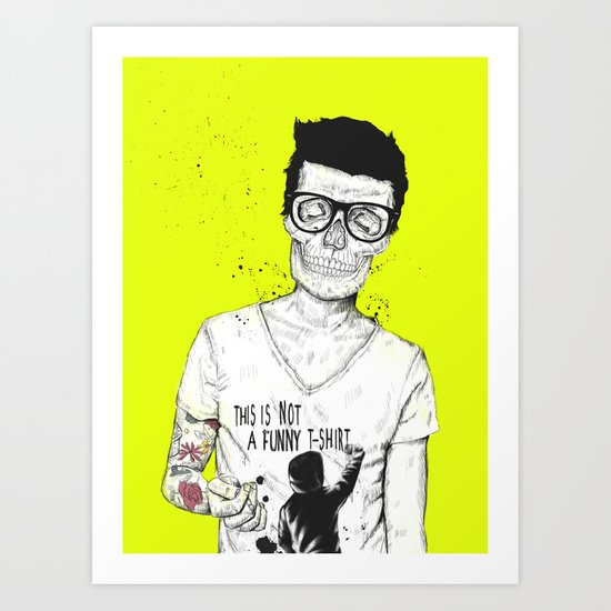 hipsters not dead Art Print