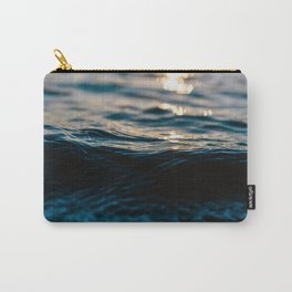 Blue Ocean Waves and Sunset Carry-All Pouch