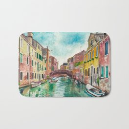 Venezia Watercolor Bath Mat