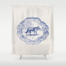 DelftWare Wolf Shower Curtain