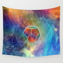 Abstract Sacred Geometry Cosmic Space Tapestry Wall Tapestry