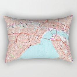 Vintage Map of Jacksonville Florida (1964) Rectangular Pillow
