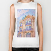 art nouveau Biker Tanks featuring art nouveau by Tereza Del Pilar