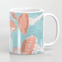 jellyfish Mugs featuring Jellyfish by Hypathie Aswang