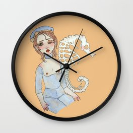 seahorse requiem Wall Clock