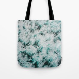 Marbled Waves Tote Bag