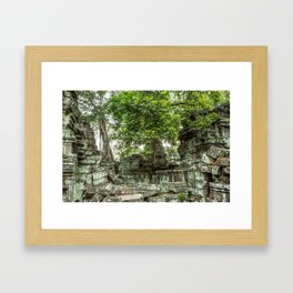 Ta Phrom, Angkor Archaeological Park, Siem Reap, Cambodia Framed Art Print