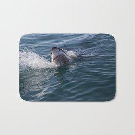 Great White Shark smiles Bath Mat