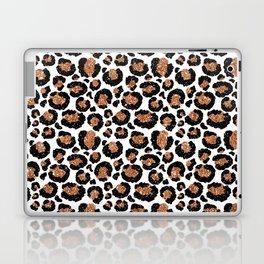 Leopard Metal Glamour Skin on white Laptop & iPad Skin
