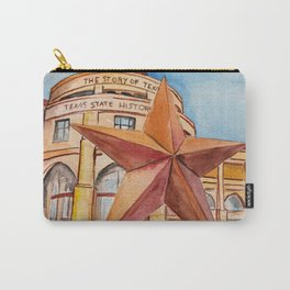 The Bullock Texas State History Museum Watercolor Carry-All Pouch