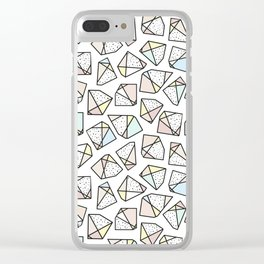 Polygonal stones and gemstones Clear iPhone Case